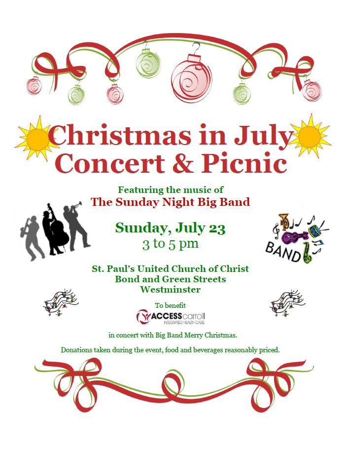 Merry Christmas In July Clipart.Christmas In July Concert Access Carroll